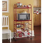 Wheeled Storage Microwave Stand