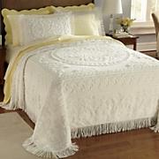 savannah chenille bedspread sham