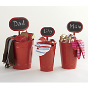 s 3 metal caddies w chalk signs