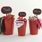 Set of 3 Metal Caddies with Chalk Signs