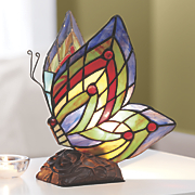 stained glass butterfly lamp 99