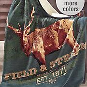 field stream forest elk throw