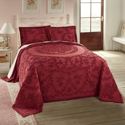 French Country Chenille Bedspread and Sham