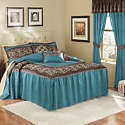 Tuscany Bedspread Set, Decorative Pillows and Window Treatments