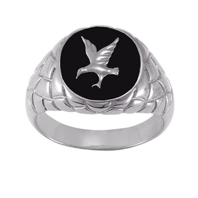 Men's Black Onyx Eagle Ring