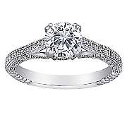 cubic zirconia round micropave ring