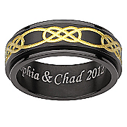 personalized celtic spinner ring