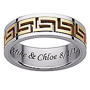personalized stainless steel spinner band