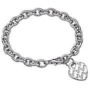 Lots of 'Love' Heart Charm Bracelet