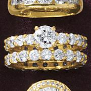 round eternity bridal set 176