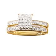 square cluster bridal set 5
