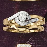 round swirl bridal set