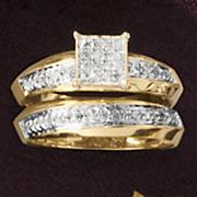 Square/Cluster Bridal Set