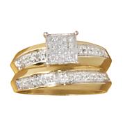square cluster bridal set 6