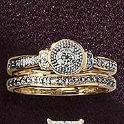 round cluster bridal set 194