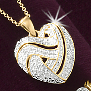 Heart Pendant with Diamond Accent