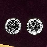 cluster post earrings