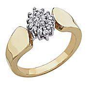1 4 carat diamond cluster ring
