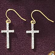 cross wire earrings 206