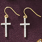 cross wire earrings 206