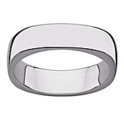 sterling silver squared polished band