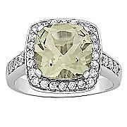 green amethyst cubic zirconia ring