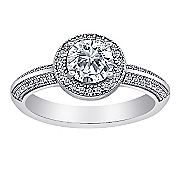 majestic micropave cubic zirconia vintage ring