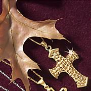 hammered cross pendant