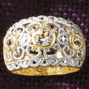 Round Vintage Swirl Band Ring