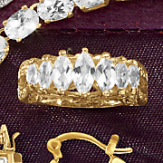 marquise gallery band ring