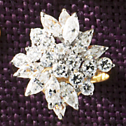 round marquise cluster ring