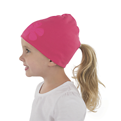cozy cub merino wool ponytail hat