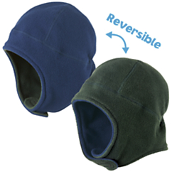 Cozy Cub Polar Fleece Reversible Hat Navy Hunter
