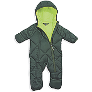 Cozy Cub Packable Down Baby Bunting in Hunter/Lime