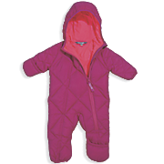 Cozy Cub Packable Down Baby Bunting in Rose/Hot Pink