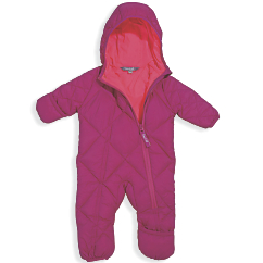 Cozy Cub Packable Down Bunting Rose Hot Pink