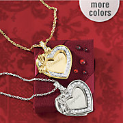 name heart bow pendant