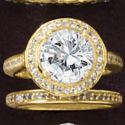 round vintage bridal set
