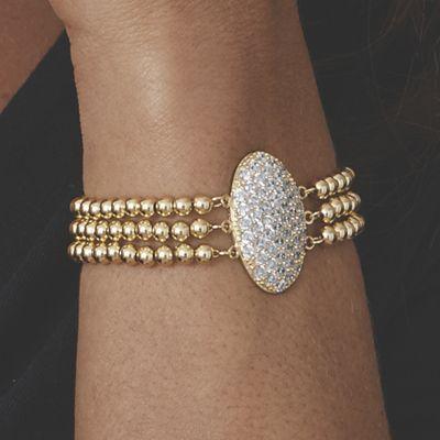 Pavé-Set Cubic Zirconia Bracelet