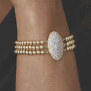 pave set cubic zirconia bracelet