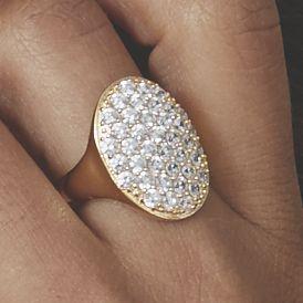 Pavé-Set Cubic Zirconia Ring