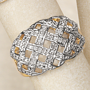 diamond basket weave ring