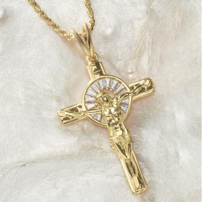 Cubic Zirconia Crucifix Pendant