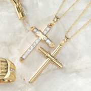reversible cubic zirconia cross pendant
