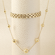 10k gold ball necklace