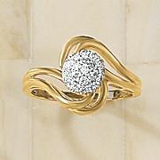 diamond cluster swirl ring 214