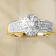 diamond oval vintage ring