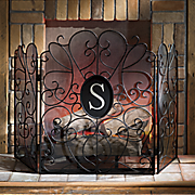 monogram fireplace screen