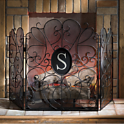 monogram fireplace screen