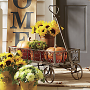 iron scroll flower cart